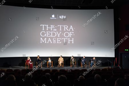 Editorial picture of 'The Tragedy Of Macbeth' Apple TV film special screening and Q+A, London, UK - 18 Oct 2021