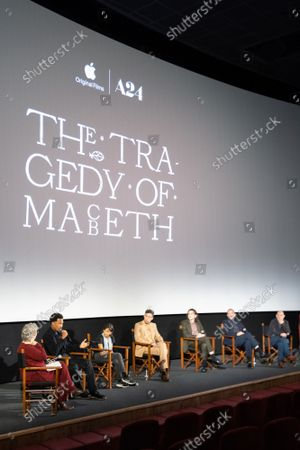 Editorial photo of 'The Tragedy Of Macbeth' Apple TV film special screening and Q+A, London, UK - 18 Oct 2021