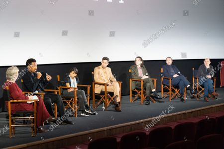 """Stock Picture of Angie Errigo, Corey Hawkins, Kathryn Hunter, Alex Hassell, Harry Melling, Bertie Carvel and Bruno Delbonnel attend Apple's special screening and Q+A of """"The Tragedy Of Macbeth"""" at Picturehouse Central. Apple and A24's """"The Tragedy Of Macbeth"""" will premiere in select UK cinemas in December and globally on Apple TV+ January 14, 2022."""