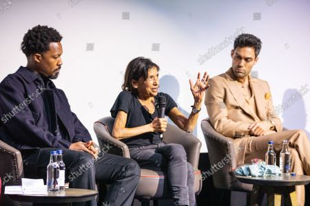 """Corey Hawkins, Kathryn Hunter and Alex Hassell attend Apple's special screening and Q+A of """"The Tragedy Of Macbeth"""" at The Ham Yard Hotel. Apple and A24's """"The Tragedy Of Macbeth"""" will premiere in select UK cinemas in December and globally on Apple TV+ January 14, 2022."""