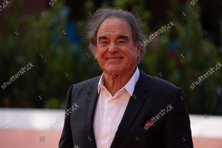 """Oliver Stone attends the red carpet of the movie """"JFK - Destiny Betrayed"""" and """"Qazaq. History Of The Golden Man"""" during the 16th Rome Film Fest 2021 on October 20, 2021 in Rome, Italy."""