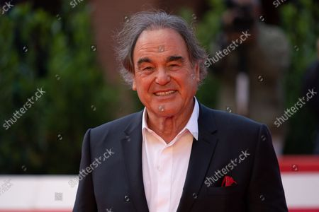 """Stock Image of Oliver Stone attends the red carpet of the movie """"JFK - Destiny Betrayed"""" and """"Qazaq. History Of The Golden Man"""" during the 16th Rome Film Fest 2021 on October 20, 2021 in Rome, Italy."""
