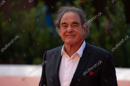 """Stock Picture of Oliver Stone attends the red carpet of the movie """"JFK - Destiny Betrayed"""" and """"Qazaq. History Of The Golden Man"""" during the 16th Rome Film Fest 2021 on October 20, 2021 in Rome, Italy."""