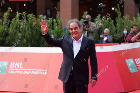 """Stock Photo of Oliver Stone attends the red carpet of the movie """"JFK - Destiny Betrayed"""" and """"Qazaq. History Of The Golden Man"""" during the 16th Rome Film Fest 2021 on October 20, 2021 in Rome, Italy."""