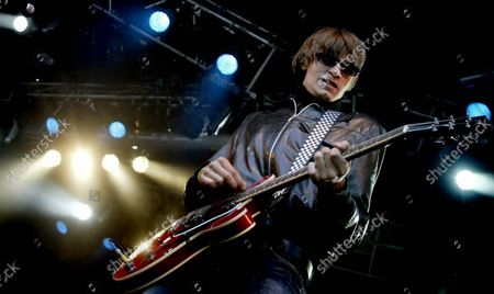 Mando Diao during a concert at Hultsfredsfestivalen, Hultsfed, Sweden.