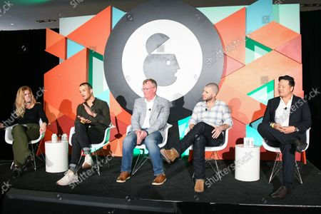 Stock Picture of Olivia O'Sullivan, Director of Partnerships, Forum Ventures, Luke Atkinson, Former CMO, Pabst Brewing Co, Kevin Reilly, Chief Product Officer, MogoSME, part of Learfield IMG College, Garth Hill, Director of Accounts, North America, Meshh Ltd., Meshh Ltd. and Brian Kim, CEO, Relo Metrics