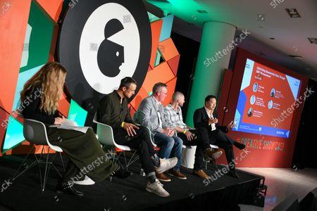 Editorial photo of Optimizing Sponsorship Value Through 360 Measurement, Advertising Week New York 2021, The Creative Showcase Stage, Hudson Yards, New York, USA - 21 Oct 2021