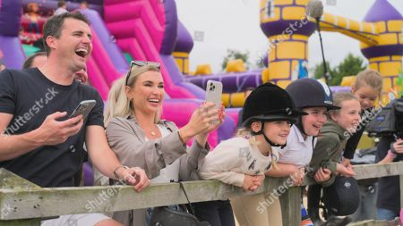 Stock Image of Greg Shepherd and Billie Faiers with Nelly.