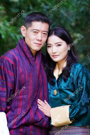 Stock Picture of King Jigme Khesar Namgyel Wangchuck and Queen Jetsun Pema Wangchuck taken at Lingkana Palace to mark the 10th Anniversary of the Royal Wedding.