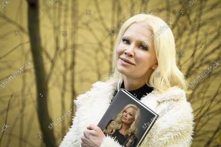 Stock Image of Violinist Linda Lampenius in Helsinki, Finland, on October 21, 2021.