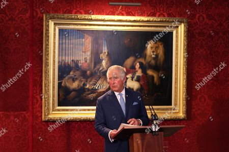 Prince Charles makes a speech during the Prince's Trust Awards Trophy Ceremony at St James Palace on October 21, 2021 in London, England. The Prince's Trust Awards recognize young people who have succeeded against the odds, improved their chances in life and had a positive impact on their local community.