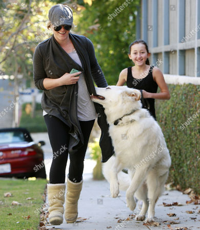 Editorial image of Noah Lindsey Cyrus takes her dog Sophie for a walk, Los Angeles, America - 30 Nov 2010