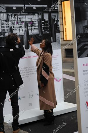 Editorial image of LILT breast cancer event, Milan, Italy - 21 Oct 2021