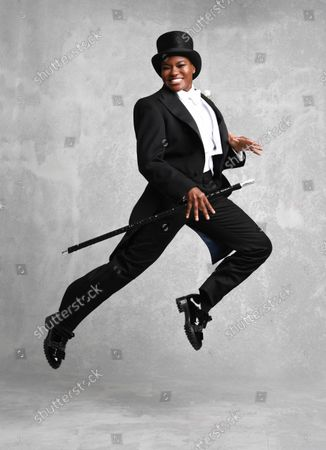 Stock Photo of Former boxer Nicola Adams previews her appearance on Strictly Come Dancing in a Fred Astaire themed photoshoot