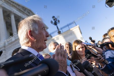 Stock Picture of Rep. Richard Neal, D-Mass., speaks to reporters after the House voted to hold Steve Bannon, a longtime ally and aide to former President Donald Trump, in contempt of Congress after he defied a subpoena from the committee investigating the Jan. 6 Capitol insurrection, at the Capitol in Washington