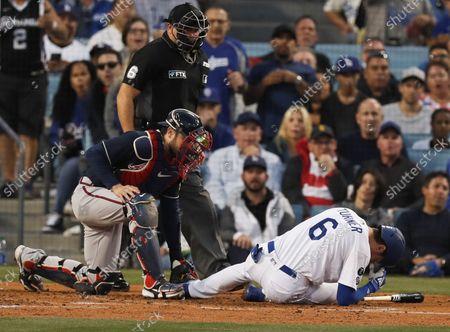 Editorial image of Atlanta Braves at Los Angeles Dodgers, USA - 21 Oct 2021