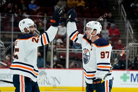 Editorial image of Oilers Coyotes Hockey, Glendale, United States - 21 Oct 2021