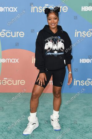 """Keke Palmer arrives at the LA premiere of """"Insecure"""" season five, at Kenneth Hahn Park in Los Angeles"""