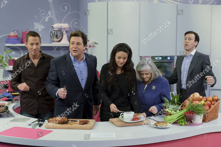 Stock Picture of Richard Phillips, Michael Ball, Michelle Keegan, Ann Widdecombe and Anton Du Beke