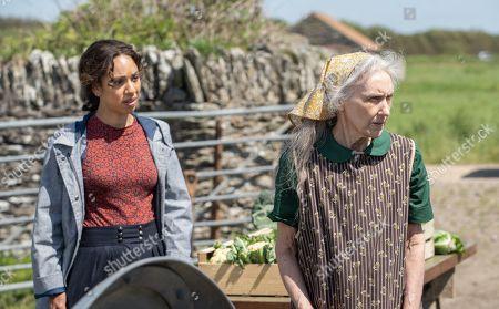 Pearl Mackie as DS Jen Rafferty and Anita Dobson as Grace Stephenson.