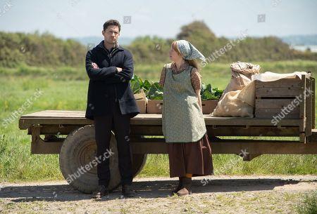 Ben Aldridge as DI Matthew Venn and Nia Gwynne as Ruth Shapland.