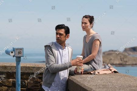 Siobhan Cullen as Caroline Reasley and Amit Shah as Ed Raveley.