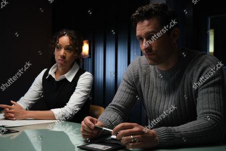 Ben Aldridge as DI Matthew Venn and Pearl Mackie as DS Jen Rafferty.
