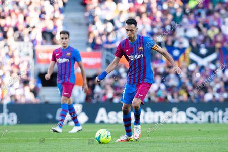Nou Camp, Barcelona, Spain: La Lig football, FC Barcelona versus Real Madrid: Sergio Busquets of FC Barcelona in action during La Liga match; .