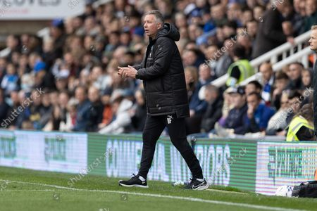 Peterborough United Manager Darren Ferguson during the EFL Sky Bet Championship match between Peterborough United and Queens Park Rangers at London Road, Peterborough