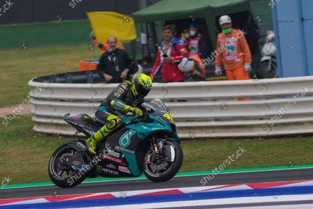 Stock Picture of Valentino Rossi (Petronas Yamaha SRT( motogp rider; Misano Adriatico, Rimini, Emilia-Romagn, Italy; MotoGP Motorcycle Racing, Gran Premio Nolan del Made in Italy, qualification day.