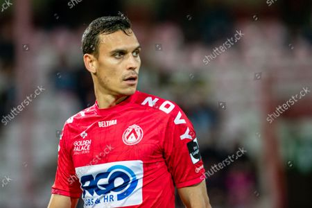 Kortrijk's Trent Sainsbury pictured during a soccer match between KV Kortrijk and KV Oostende, Saturday 23 October 2021 in Kortrijk, on day 12 of the 2021-2022 'Jupiler Pro League' first division of the Belgian championship.