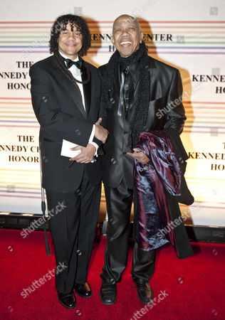 Stock Picture of Leo Holder (L) and father, Geoffrey Holder (R)