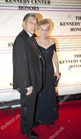 Stock Picture of Norman Mineta, US Transportation Secretary and his wife Deni