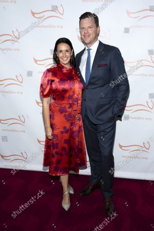 """Christina Geist and Willie Geist attend """"A Funny Thing Happened on the Way to Cure Parkinson's"""" gala benefiting The Michael J. Fox Foundation for Parkinson's Research at Jazz at Lincoln Center Frederick P. Rose Hall, in New York"""