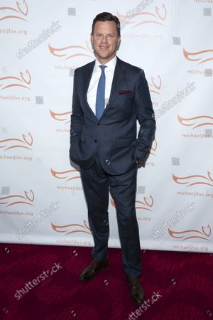 """Stock Photo of Willie Geist attends """"A Funny Thing Happened on the Way to Cure Parkinson's"""" gala benefiting The Michael J. Fox Foundation for Parkinson's Research at Jazz at Lincoln Center Frederick P. Rose Hall, in New York"""