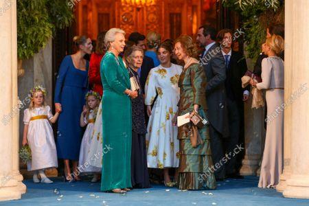 Princess Benedikte of Denmark, Irene of Greece, Sophia of Greece