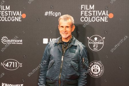 """Stock Image of Ulrich Matthes at the """"Geborgtes Weiss"""" photo call during the cologne film festival at Cologne Filmpalast on Oct 23, 2021"""