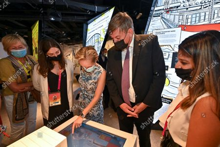 N-VA's Annick De Ridder and Flemish Minister President Jan Jambon pictured during a visit to the Flemish Week at the Expo 2020 in Dubai, United Arab Emerates on Sunday 24 October 2021. The Flanders region of Belgium is hosting a week of events at the World Expo.
