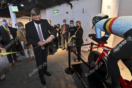 Flemish Minister President Jan Jambon pictured during a visit to the Flemish Week at the Expo 2020 in Dubai, United Arab Emerates on Sunday 24 October 2021. The Flanders region of Belgium is hosting a week of events at the World Expo.