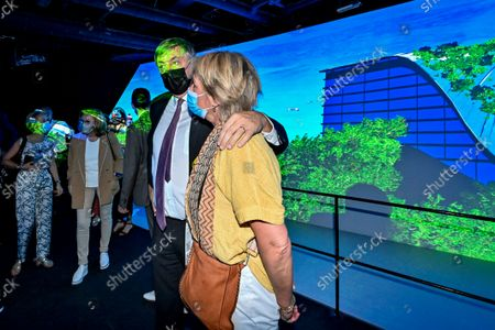 Flemish Minister President Jan Jambon and his wife An Gilops pictured during a visit to the Flemish Week at the Expo 2020 in Dubai, United Arab Emerates on Sunday 24 October 2021. The Flanders region of Belgium is hosting a week of events at the World Expo.