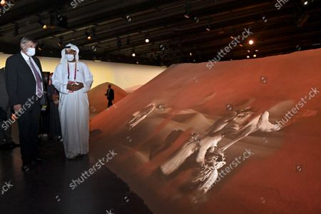 Flemish Minister President Jan Jambon pictured at the UAE's pavilion during a visit to the Flemish Week at the Expo 2020 in Dubai, United Arab Emerates on Sunday 24 October 2021. The Flanders region of Belgium is hosting a week of events at the World Expo.