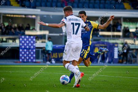 Ciro Immobile (Lazio) scores a goal 2-1