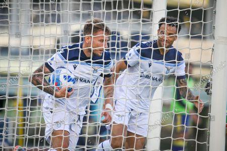 Ciro Immobile (Lazio) celebrates after scoring a goal 2-1
