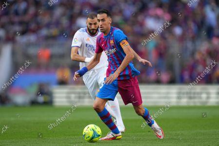Editorial image of FC Barcelona v Real Madrid, La Liga 2021-2022, date 10. Football, Camp Nou Stadium, Barcelona, Spain - 24 Oct 2021