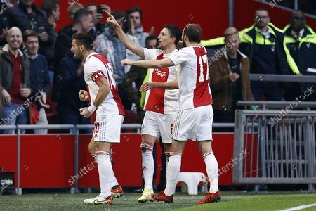 Editorial photo of Ajax Amsterdam v PSV Eindhoven, Dutch Eredivisie, Amsterdam, Netherlands - 24 Oct 2021
