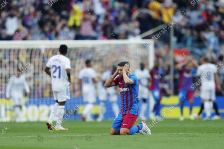 "Jordi Alba (Barcelona) - Football / Soccer : Spanish ""La Liga Santander"" match between FC Barcelona 1-2 Real Madrid at the Camp Nou stadium in Barcelona, Spain."