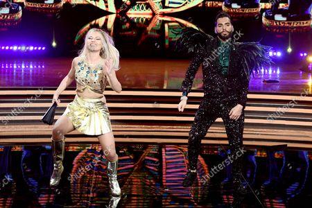 Stock Image of Federico Fashion Style and Anastasia Kuzmina