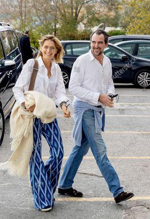 Nicholas of Greece, brother of the groom, with his wife, Tatyana Blatnik,