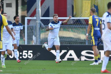 Stock Picture of Ciro Immobile (Lazio) celebrates