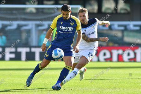 Koray Gunter (Verona) and Ciro Immobile (Lazio)